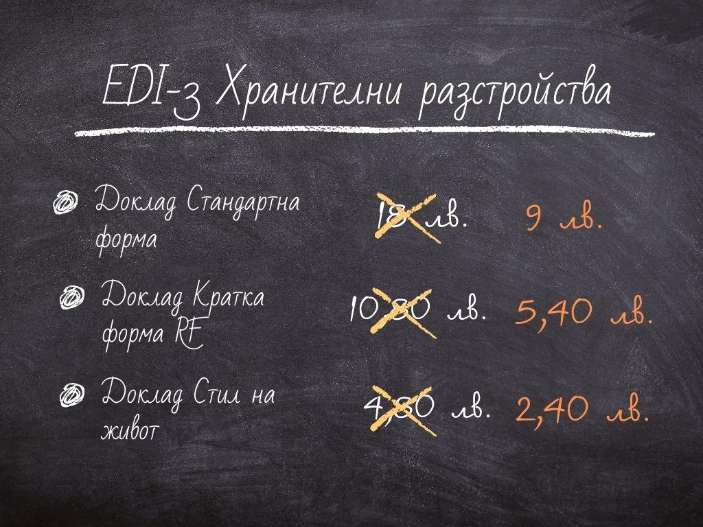 Доклади с резултати от EDI-3 на половин цена